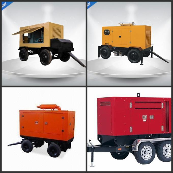 80kw 100kva Silent Type Trailer Mounted Generator With Cummins / Perkins Diesel Engine