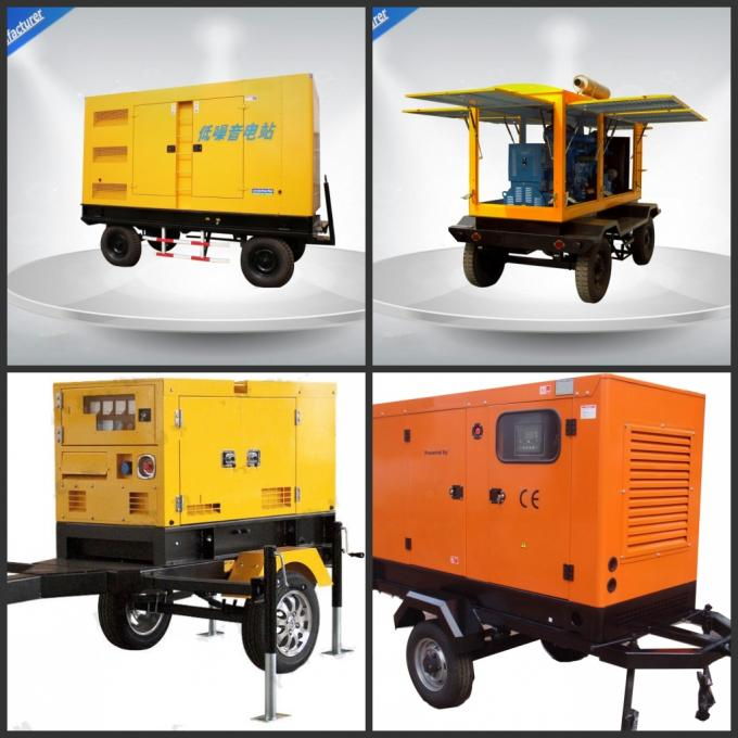 Noise Proof Industrial Trailer Mounted Generator 6 Cylinder For Residential