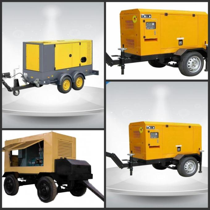 400 / 230V Portable Trailer Mounted Generator 191 Kw Output Power In - Line Config