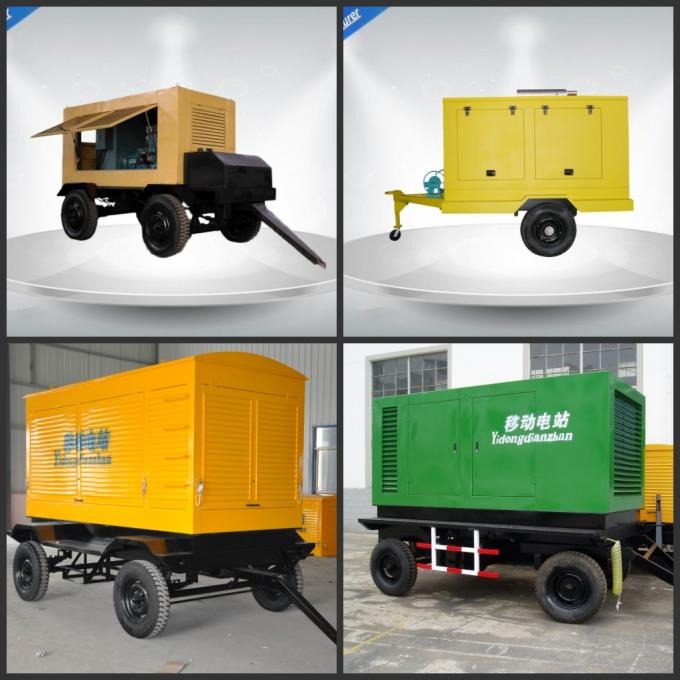 Rental Three Phase Trailer Mounted Generator 4 Wires Self - Excited Control System