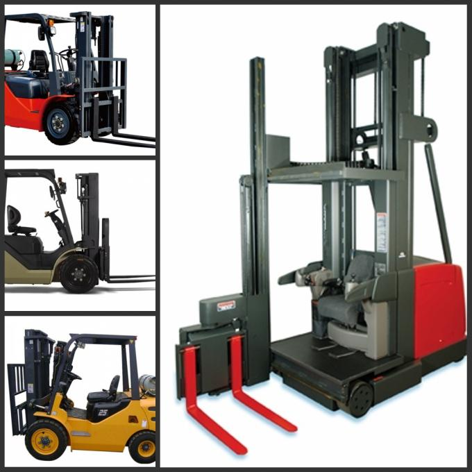 Electric Narrow Aisle Forklift / Three Wheels reach truck forklift With SME AC controller