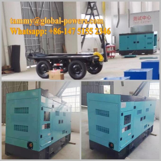 Vehicle AC 3 Phase Trailer Mounted Generator With Leaf Spring Suspension Structure Node