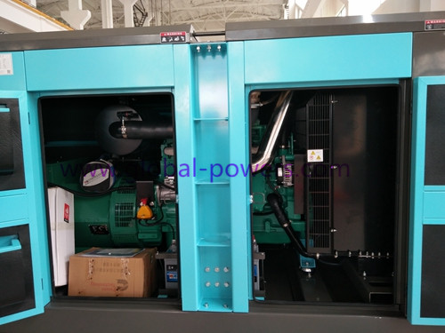 Backup Power Silent Diesel Generator Set 226 KW / 283 KVA Low Fuel Consumption