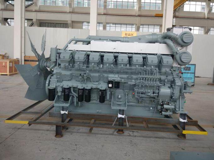 1520kw 1875kva 50Hz Mitsubishi Diesel Generator With Stamford Alternator , Water Cooled Three Phase