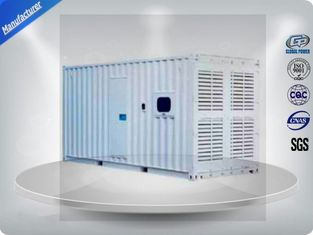 چین Three Phase Diesel Container Generator Set 75 Db 1000 - 1250 Kw / Kva Water - Cooled تامین کننده