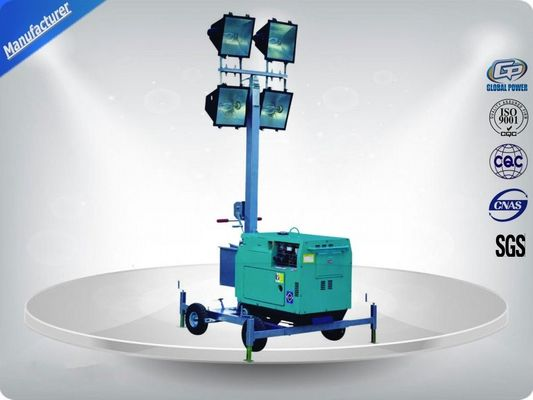 چین 60Hz  Single Phase Portable Mobile Light Tower Rental With Diesel Generator تامین کننده