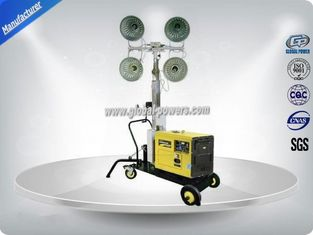 چین Self - Exciting Portable Light Tower Rental / Industrial Light Tower Gasoline Generator تامین کننده