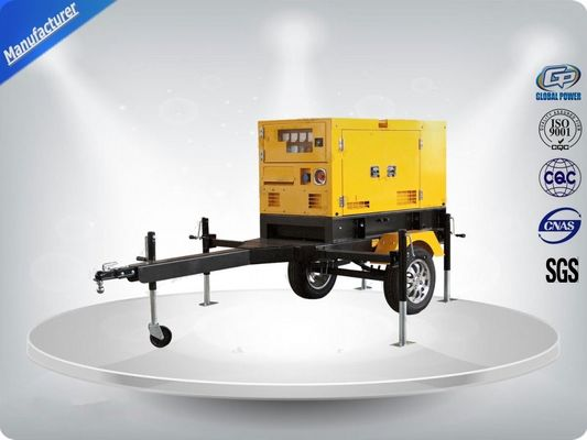 چین Rental Trailer Genset 23.3:1 Compression Ratio 1500 R / Min Engine Speed تامین کننده