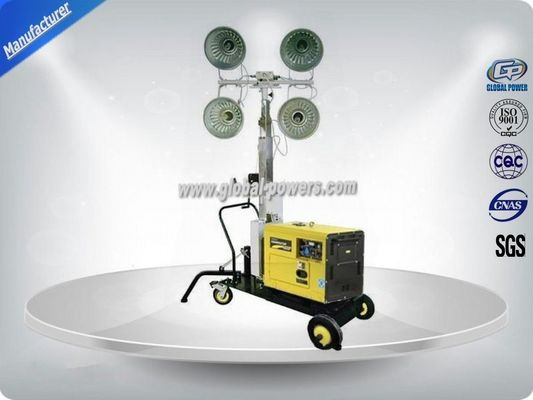 چین Self - Exciting Portable Light Tower Rental / Industrial Light Tower Gasoline Generator کارخانه
