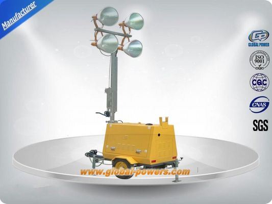 چین LED 9m Portable Trailer  Mobile Light Tower Diesel Generator  with Hand Push کارخانه