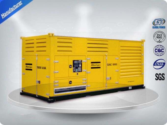 500-1100 Kw/ Kva Canopy Industrial Diesel Generators With 192 g/kw·h Fuel Consump
