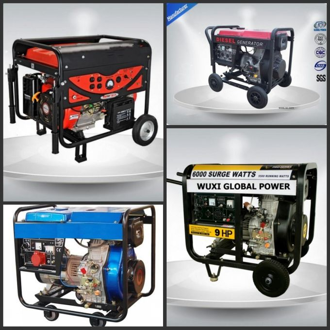 11 Kva Low Noise Portable Generator Set Vertical 97 dB With Open Frame